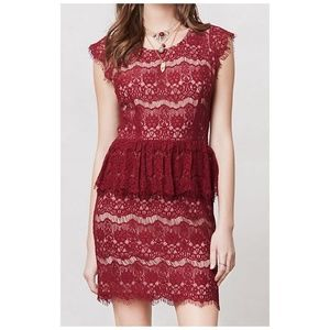 Anthropologie Maeve Elsa peplum lace dress, Size M